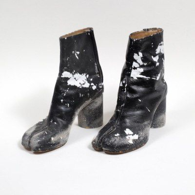 455635be239d Totokaelo x Margiela exclusive white tabi boots featuring collaboration  artist s. Sock Shoes, Fashion Accessories