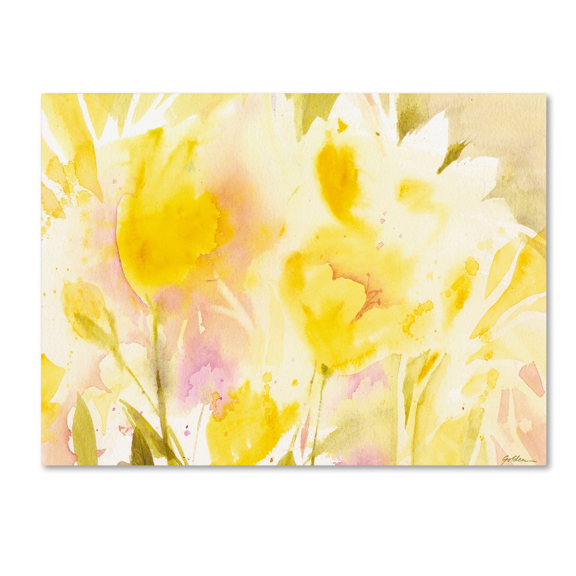 Yellow Gardens Painting Print On Canvas Golden Painting Painting Prints Wall Canvas