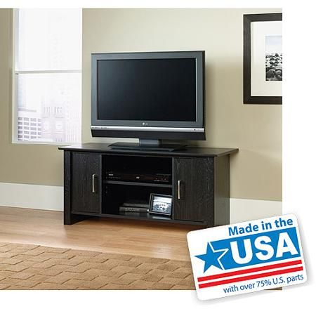 Mainstays Tv Stand For Tvs Up To 47 Blackwood Finish Walmart