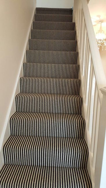 Stairs Hallway Carpet Carpet Staircase Striped Carpet Stairs