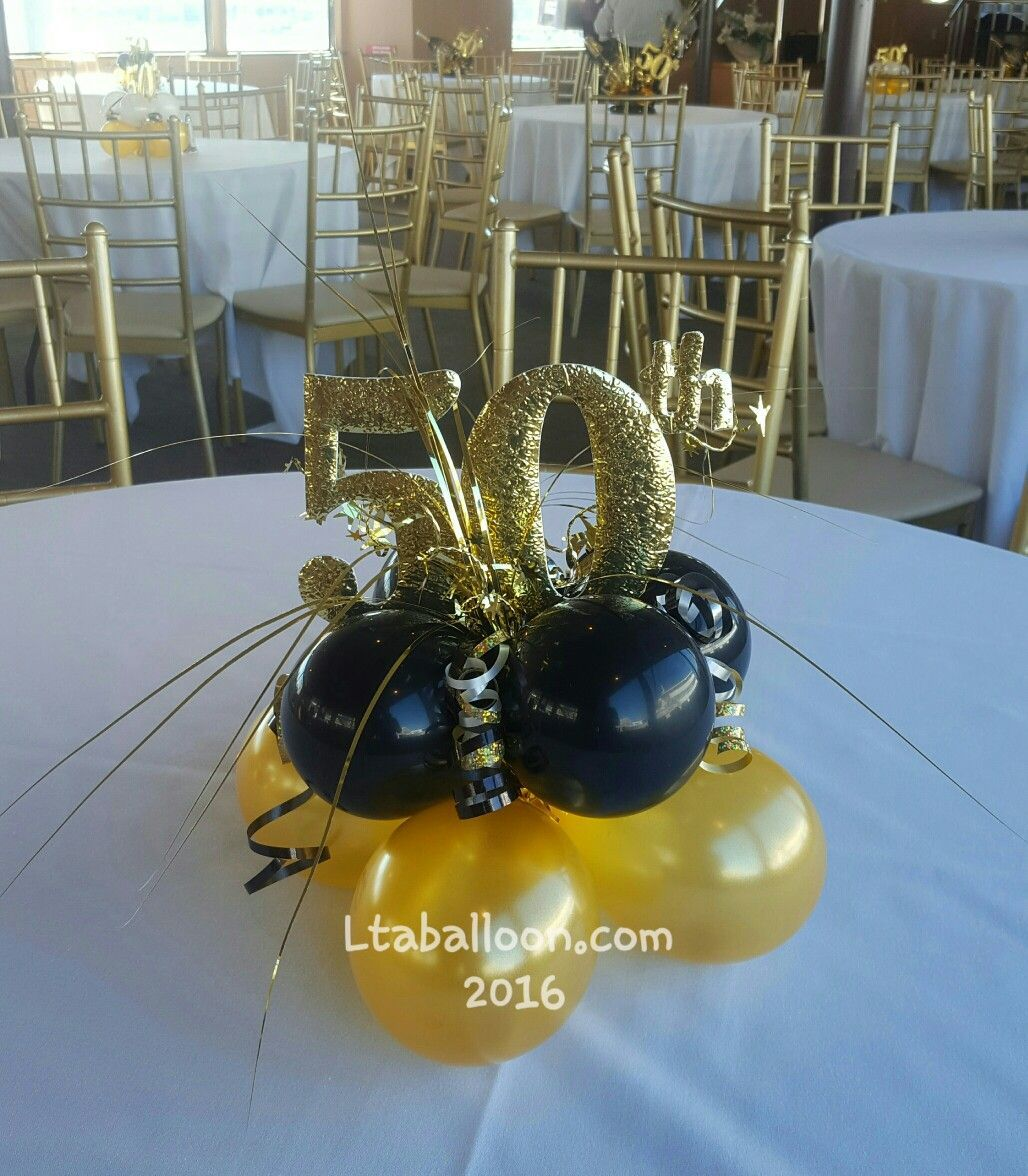 40th Birthday Black Gold Party 50th Birthday Party Decorations