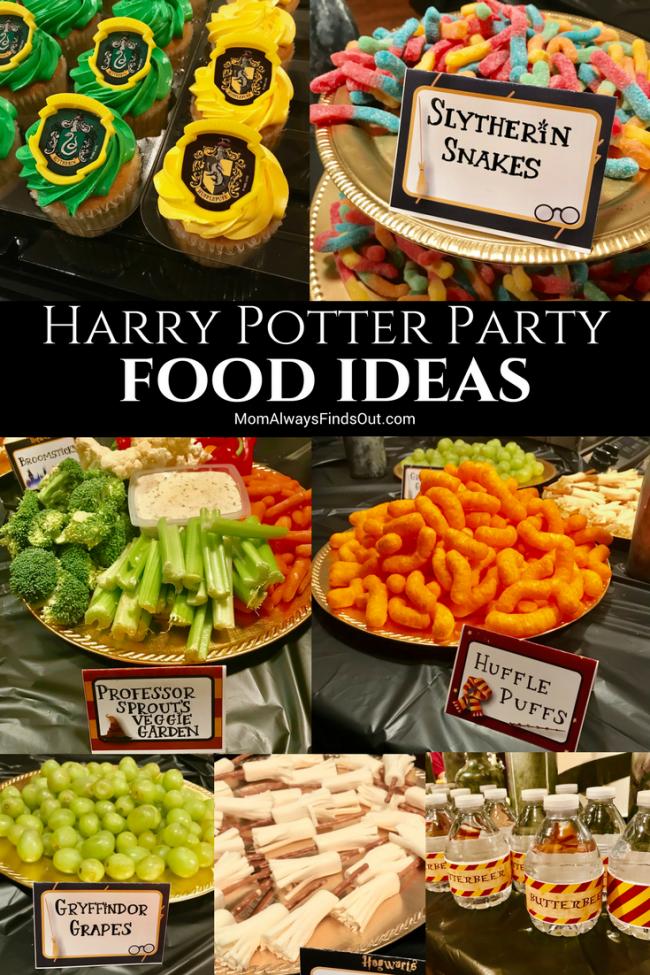 Harry Potter Birthday Party Food Ideas Mom Always Finds Out In 2020 Harry Potter Parties Food Harry Potter Snacks Harry Potter Food