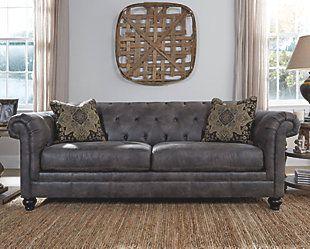 Hartigan Sofa Pleather Living Room Sofa Home Furniture