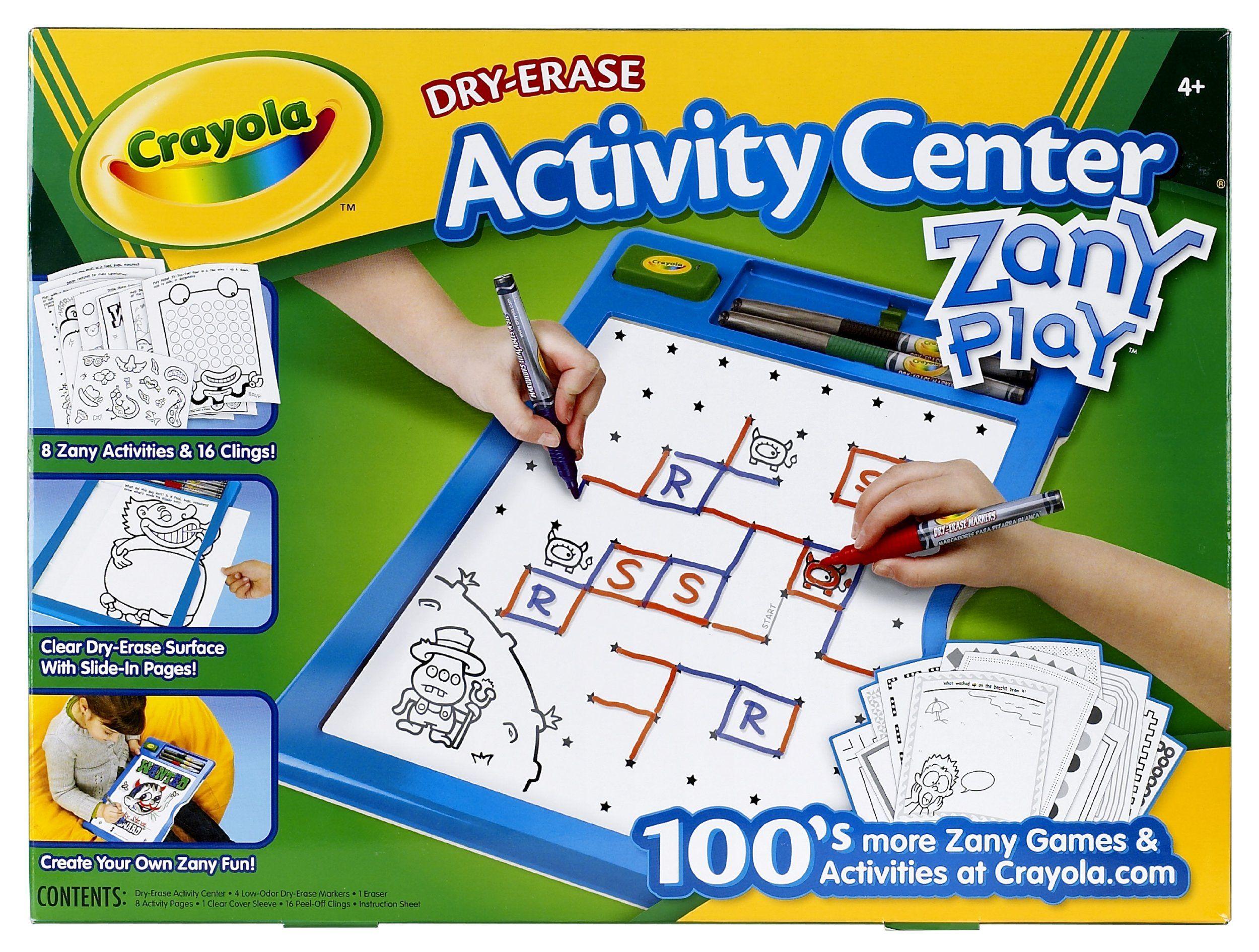 Amazon Crayola Dry Erase Activity Center Zany Play Edition