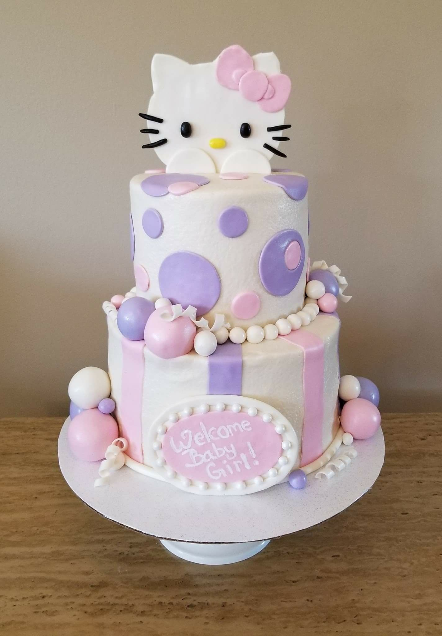 Hello Kitty Baby Shower Cake : hello, kitty, shower, Hello, Kitty, Shower, Shower,, Cakes, Girl,