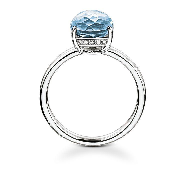 Unique Femmes Radiant Bleu Cristal Saphir Deux Ton Or l/'éternité De mariage Bagues