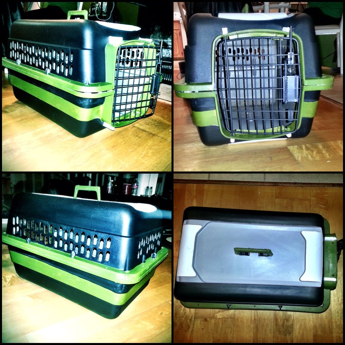 Pet Carrier Makeover Dog Crate Painted So Glad With The