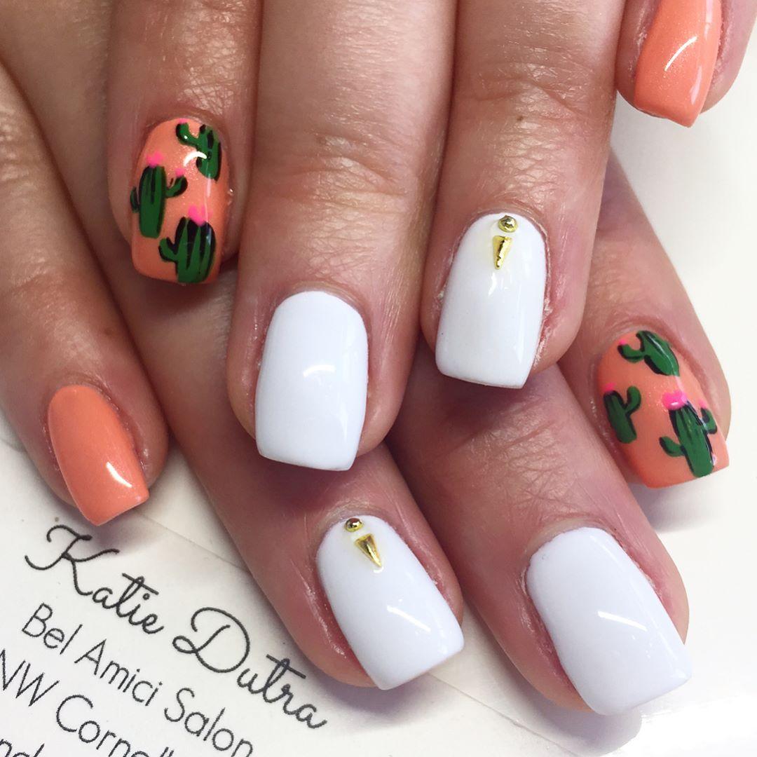 Cactus nails Katie Dutra - Nail Artist (@nailsbykatiedutra ...