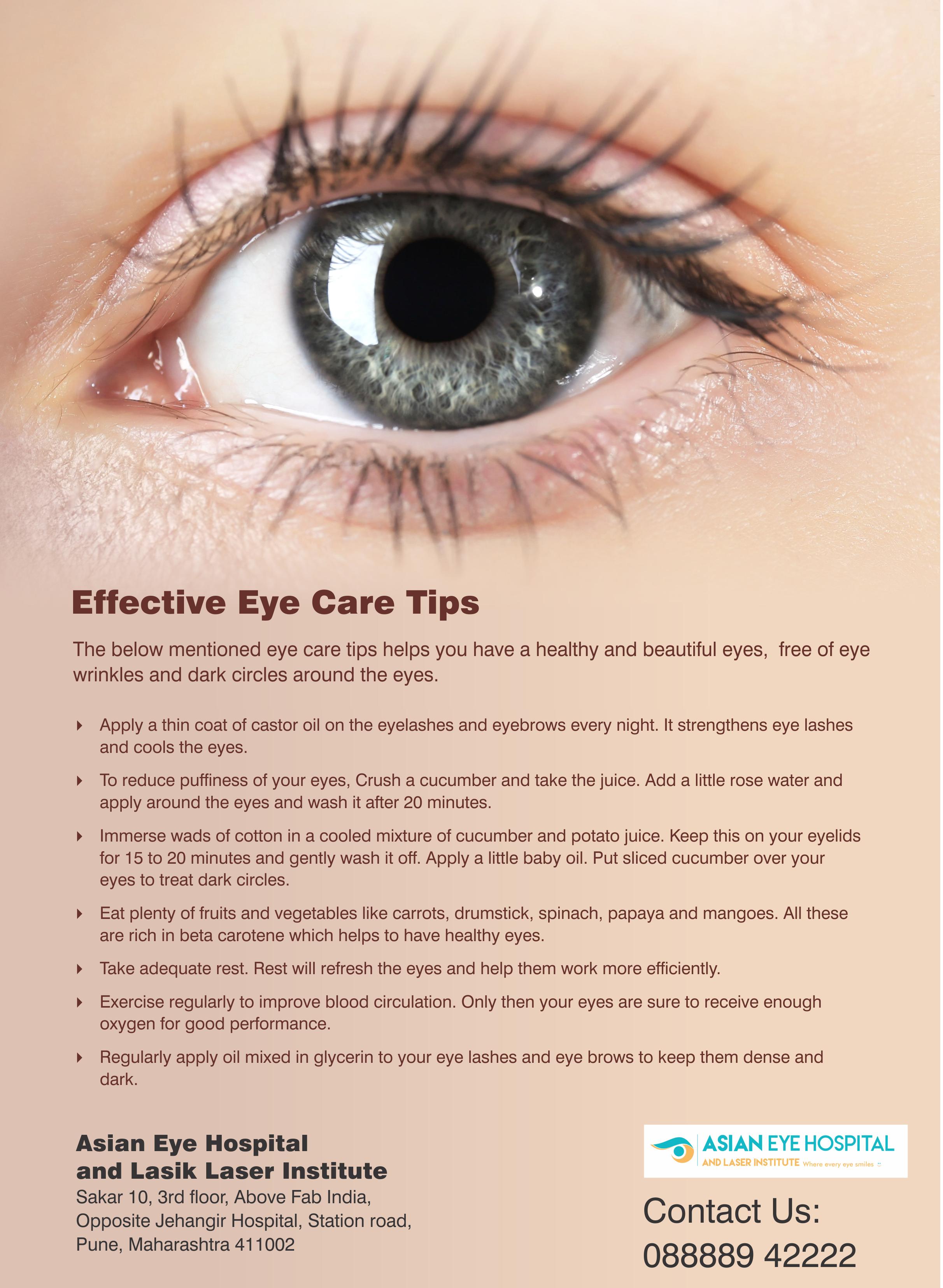Effective Eye Care Tips - Asian Eye Hospital  Eye wrinkle, Eye