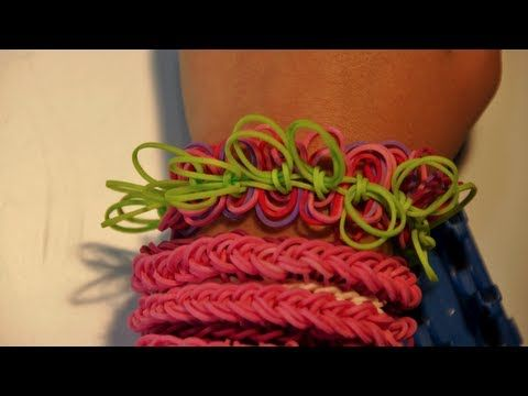 ▶ New Style! How to make a Hula Hoop rubber band bracelet on a Cra-Z-Loom - YouTube