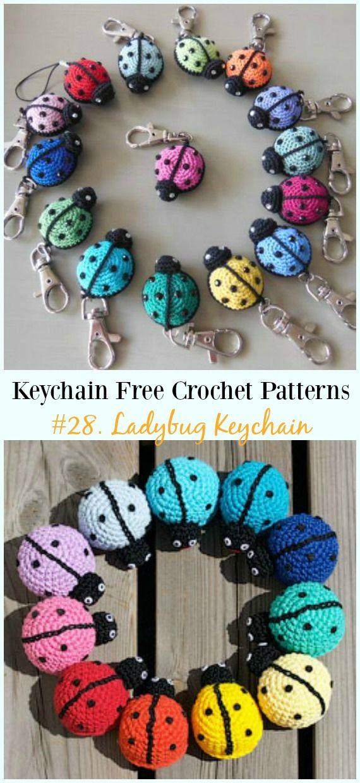Cute and Fun Keychain Crochet Patterns Free   ROCK ART   Pinterest