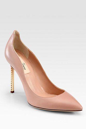 Sapatos de Valentino. #casamento #sapatos #rosapastel