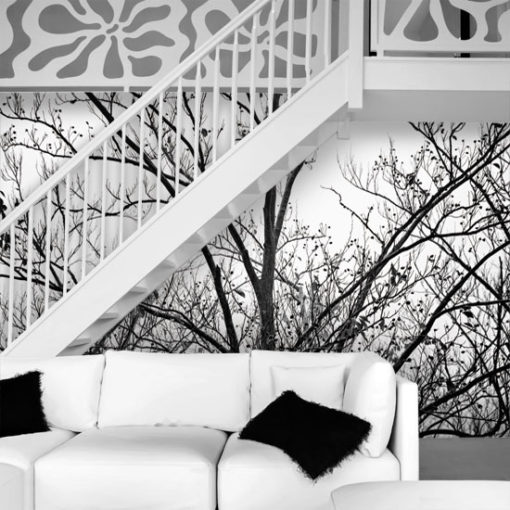 Elegancka Foto Tapeta Z Czarno Bialym Drzewem Home Decor Home Decor