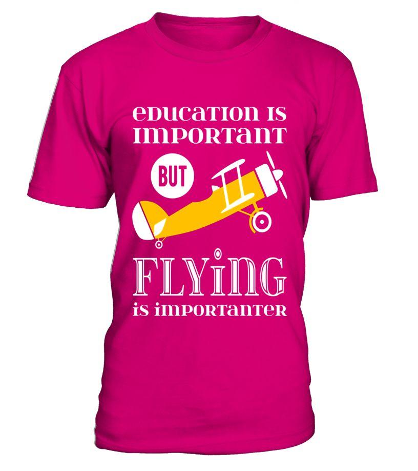a9e8e42b0d Funny Airplane Pilot T-Shirt Aviation Airline Crop Duster ...