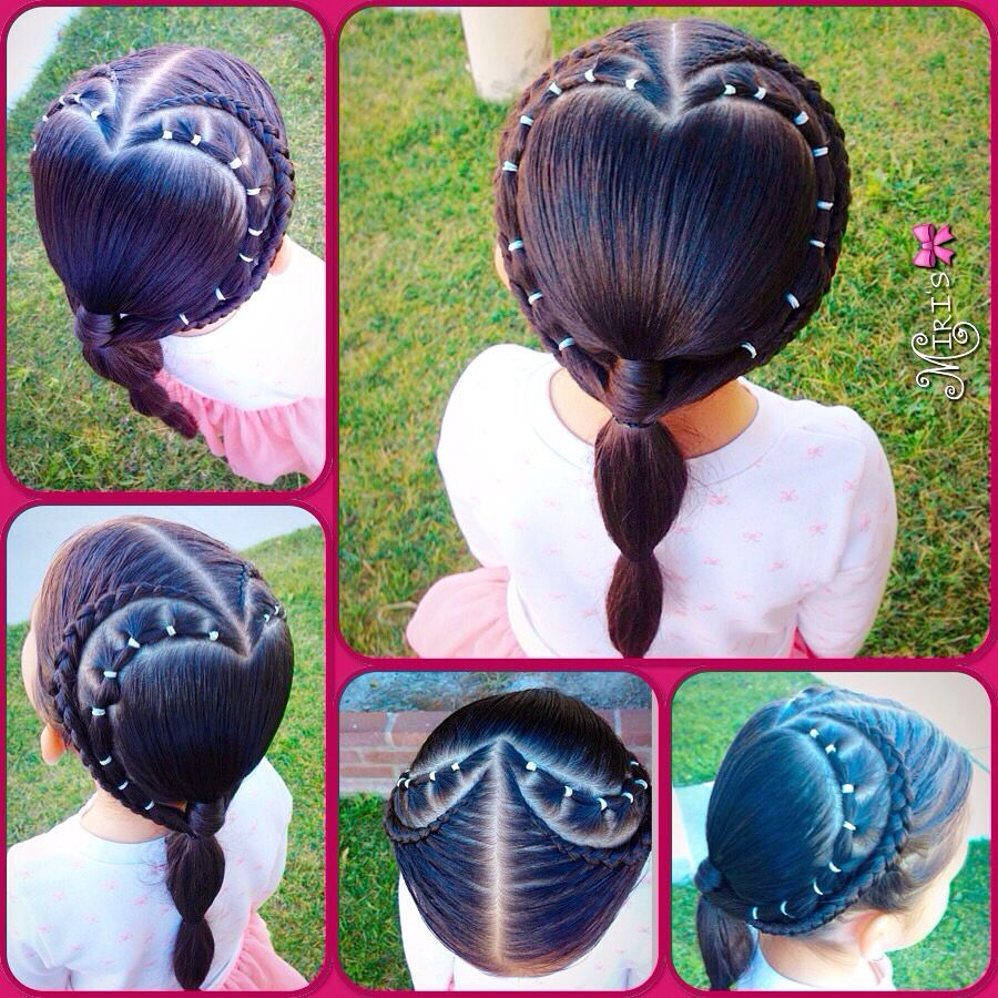 Hearts hair style for little girls beauty pinterest hair hair