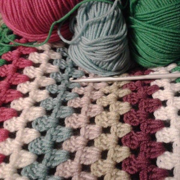 granny stripe #crochet   Crochet 4   Pinterest   Tejido