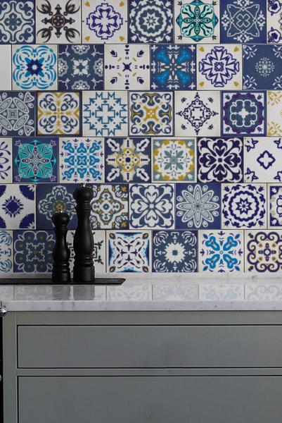 Kafelki Dekoracyjne Naklejki Na Plytki Ceramiczne Coloray Naklejki Na Kafelki Tile Decals Blue Tiles Adhesive Tiles