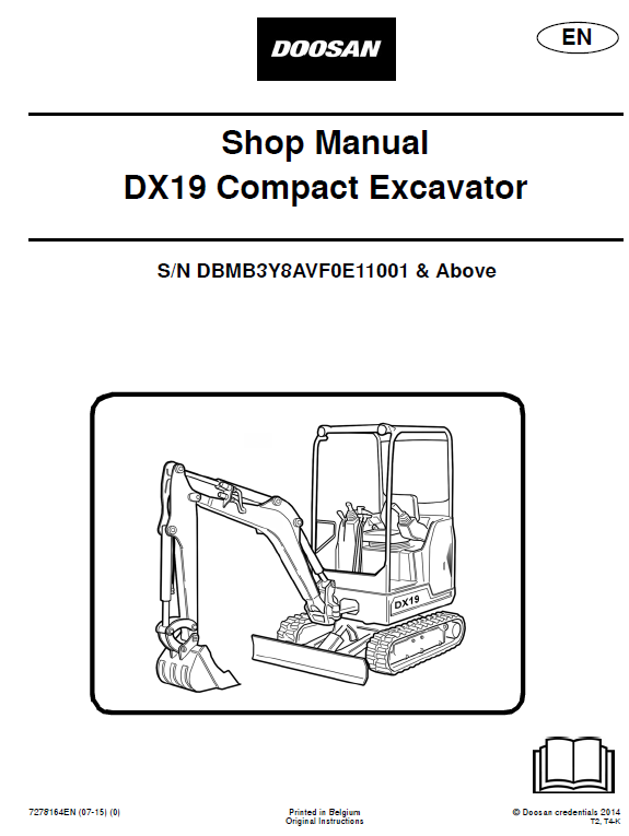 Doosan Dx19 Excavator Service Manual Excavator Manual Electrical Diagram