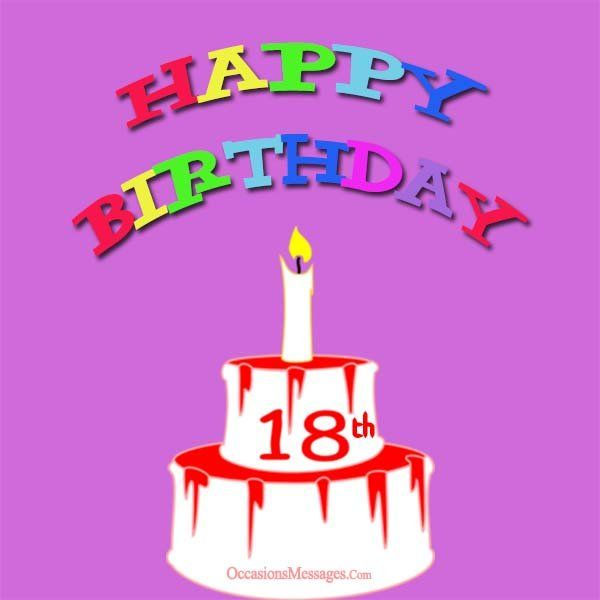 Happy 18th birthday cards cards pinterest birthdays and messages m4hsunfo
