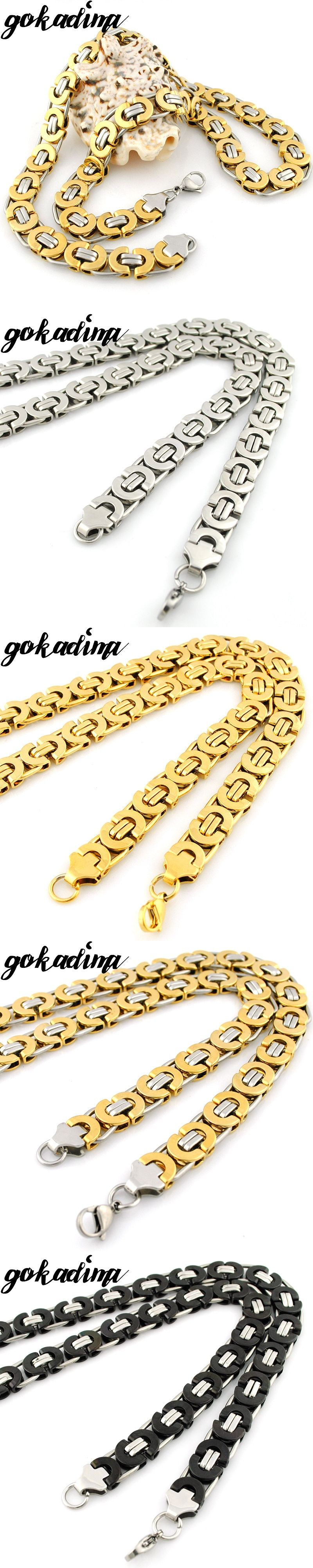 product chain with s gold on stainless wholesale chains online steel store jewelry byzantine mens necklace men piece plated fashion