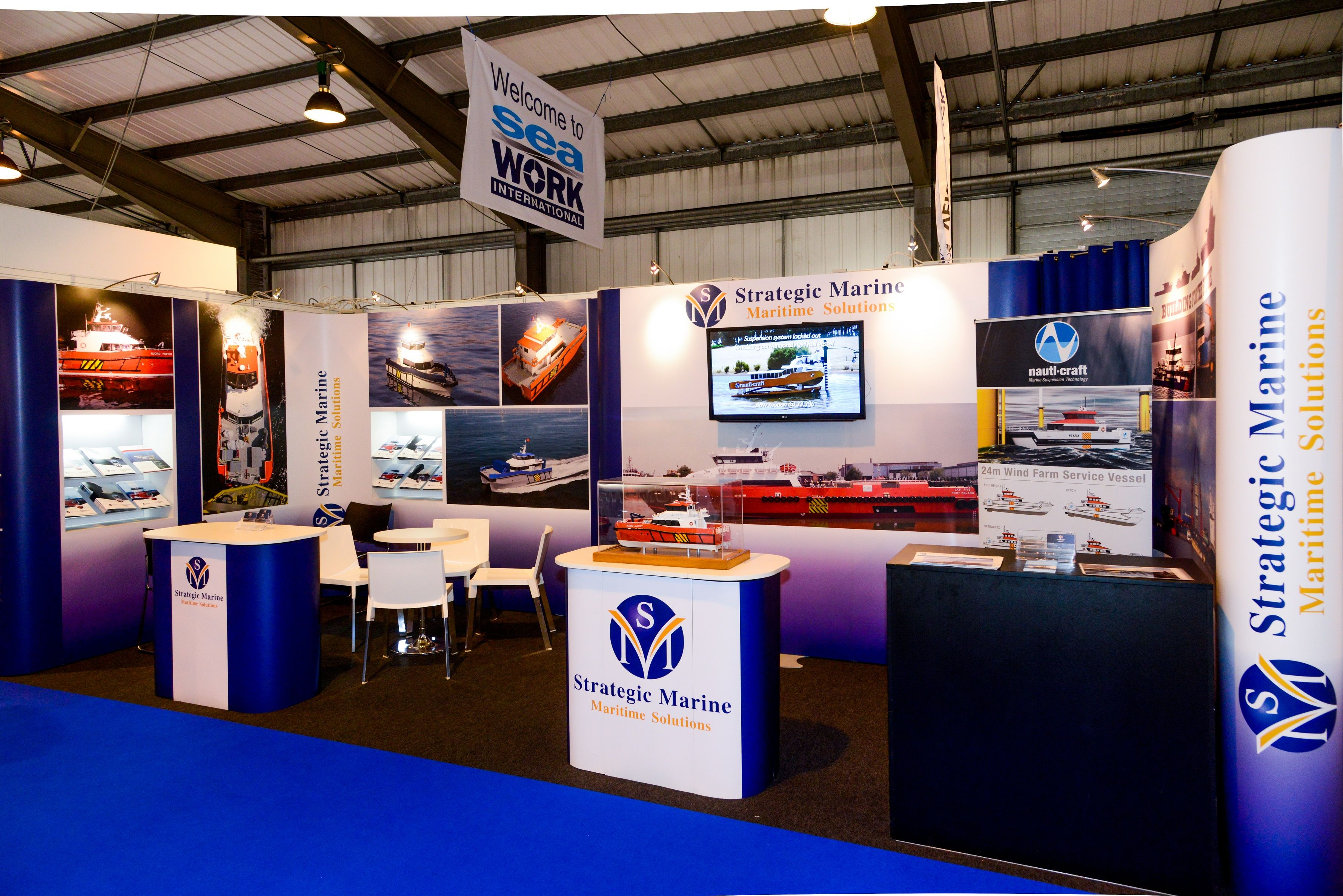 Modular Exhibition Stands Zone : Modular exhibition stand for strategic marine by quadrant2design at