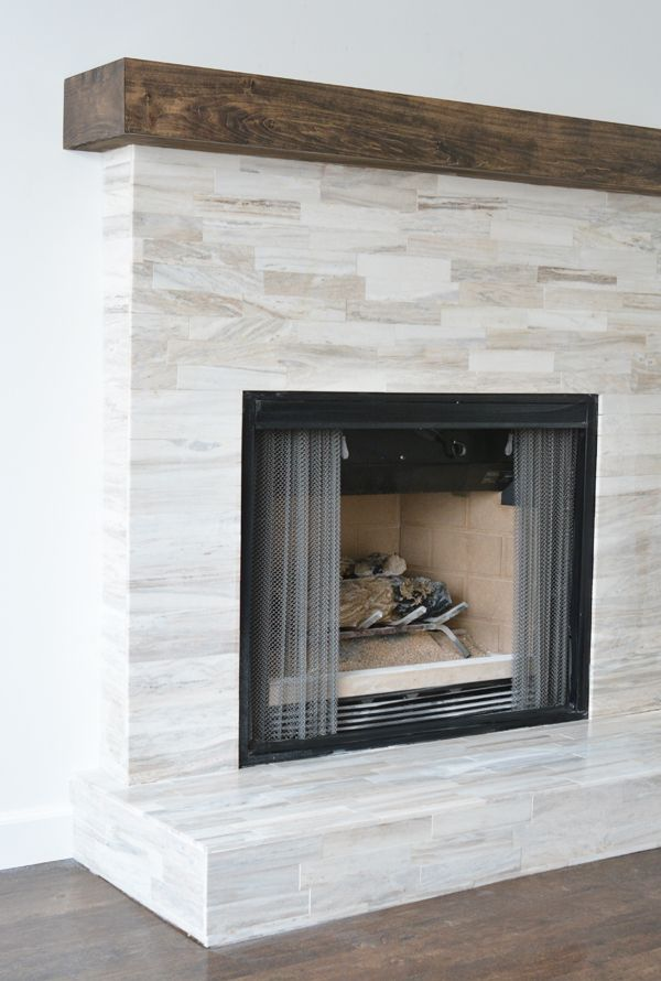 Marble Fireplace Makeover Centsational Style Fireplace Remodel Fireplace Tile Surround Home Fireplace