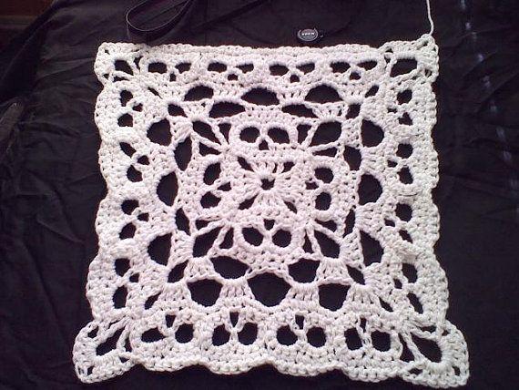 Pdf Creepy Granny Skull Infinity Square No 2 Crochet Pattern