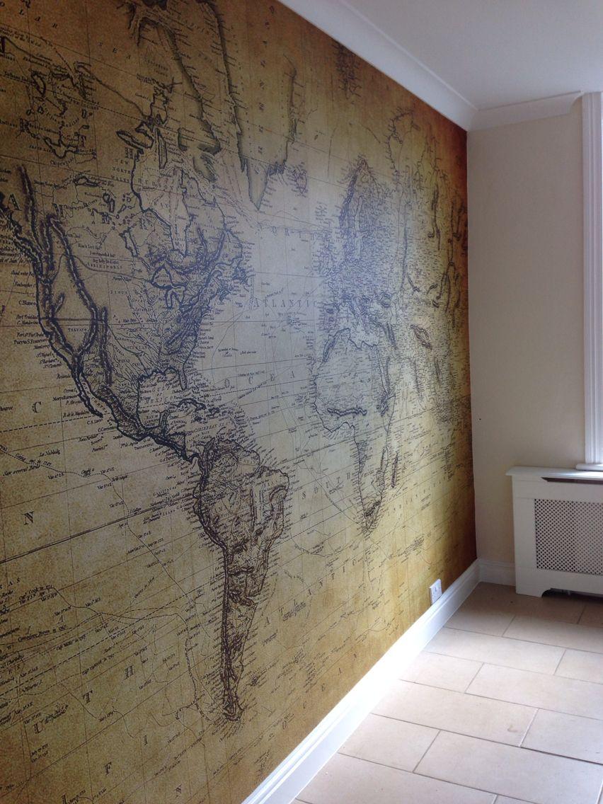 One Piece Wallpaper Kitchen World Map Www Vistadigital Co Uk Https Www Facebook Com Pages Thompson Decor 141916392672879 Wall Murals Mural Wood Art