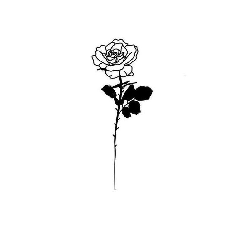 мини картинки для тату роза была сексуальном
