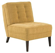 Custom Fabric Accent Chairs.Armless Button Back Fabric Accent Chair Around The House