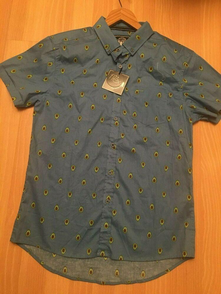 7121490b20 Retro Design M Avocado FIVE POINTS NYC Blue Button Shirt Slim FitFlex  MSRP$35 #fashion #clothing #shoes #accessories #mensclothing #shirts (ebay  link)