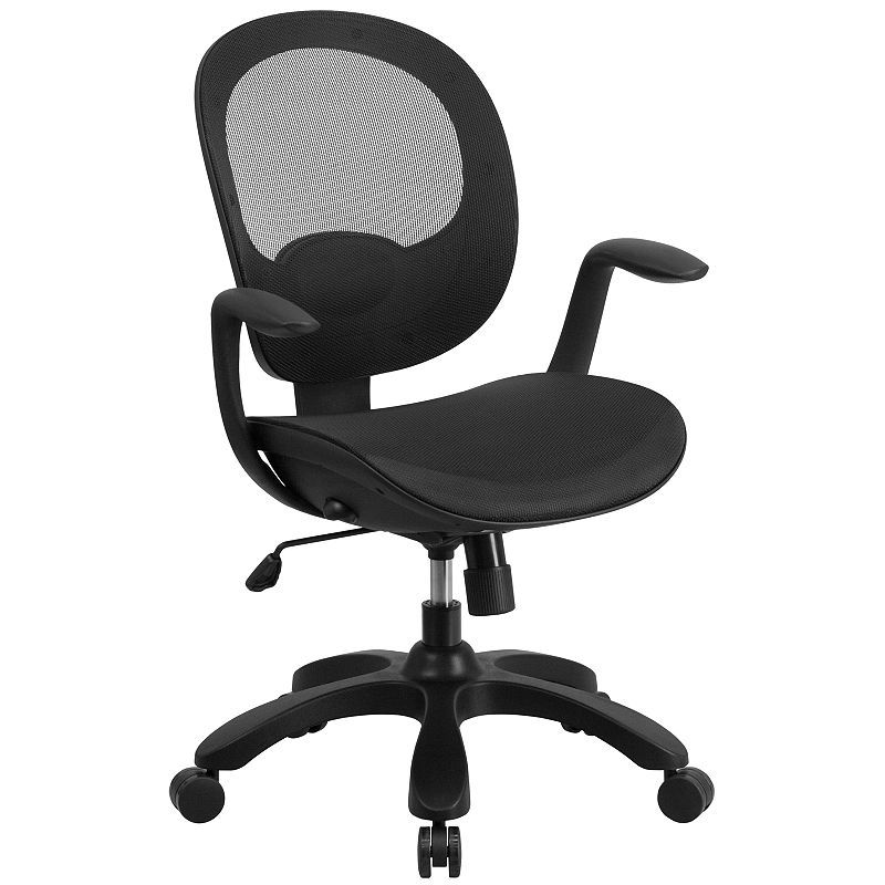 Stupendous Mid Back Transparent Mesh Swivel Task Chair With Seat Slider Pdpeps Interior Chair Design Pdpepsorg