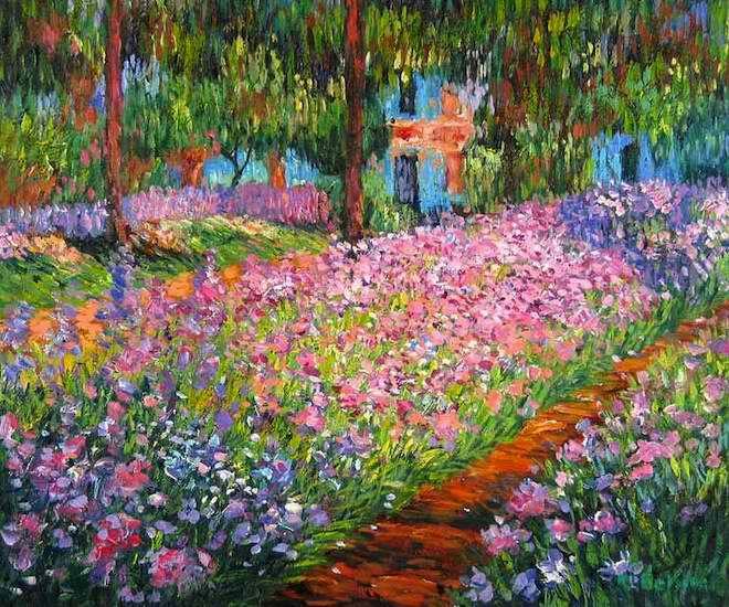 La Maison De Claude Monet A Giverny Monet Peinture Tableau Monet Monet