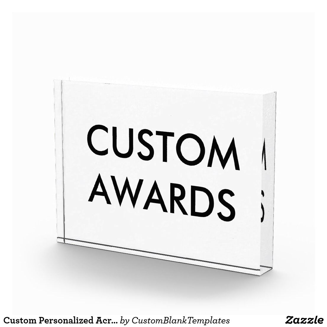 Custom Personalized Acrylic Award Blank Template Photo Block