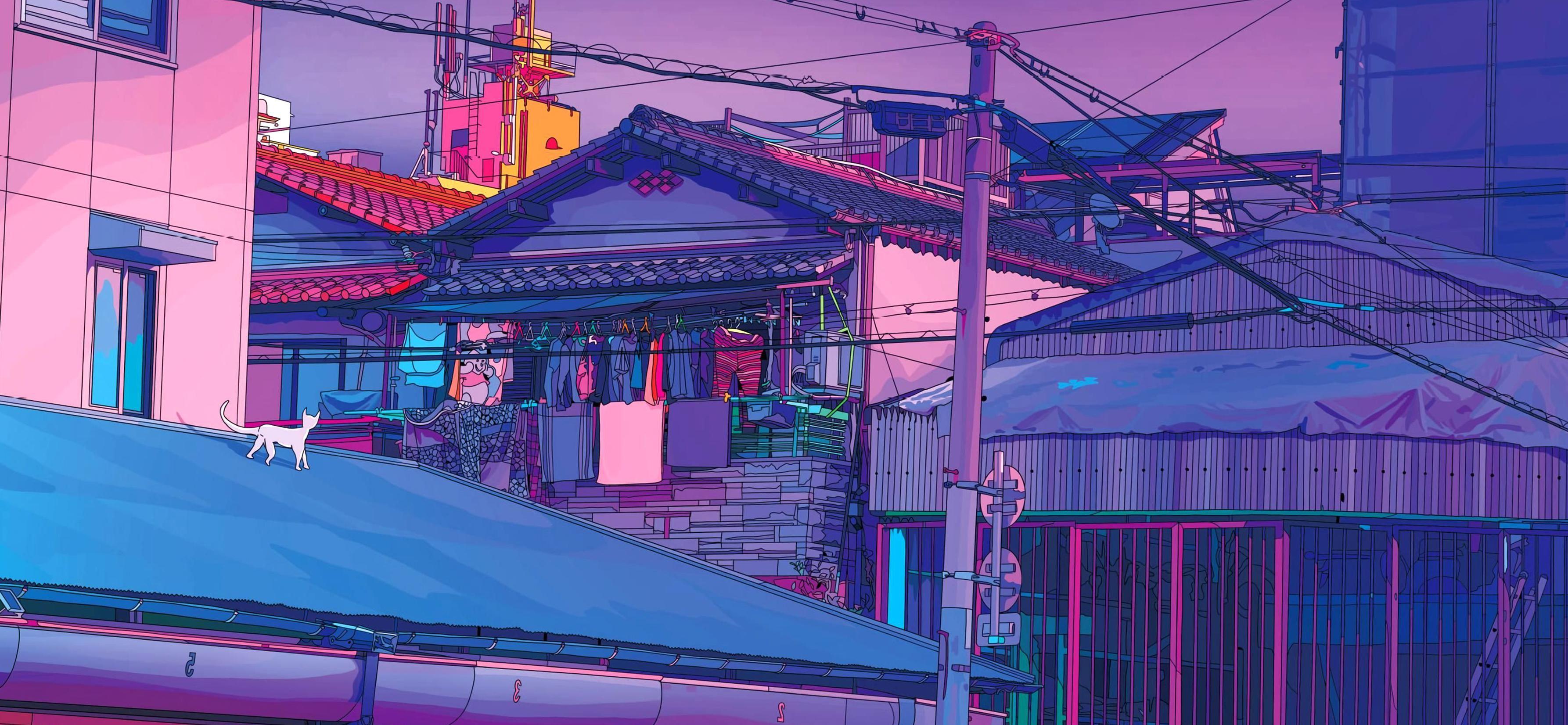 90s anime aesthetic desktop wallpaper
