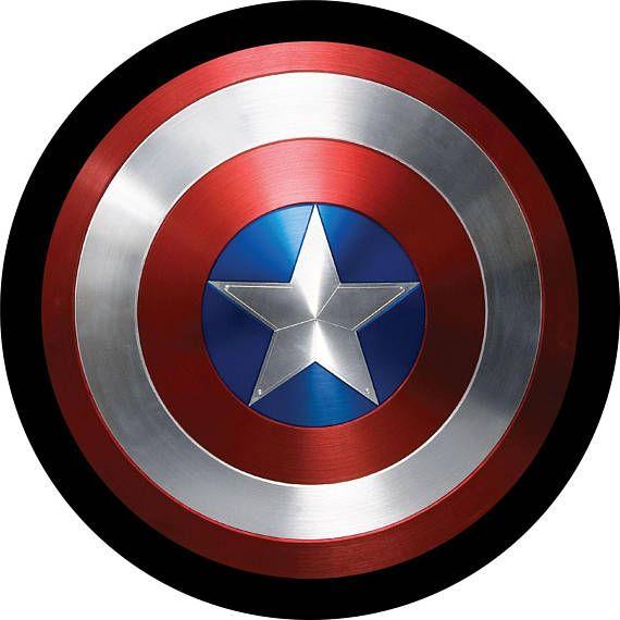 Captain America Shield Spare Tire Cover Jeep Wrangler ...
