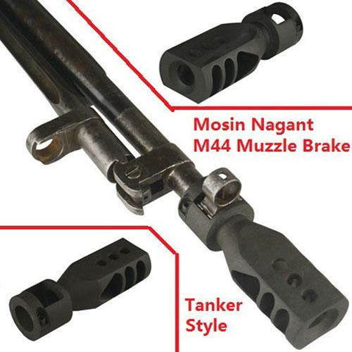 Bolt On Tanker Style Muzzle Brake Triangular Baffles For Mosin
