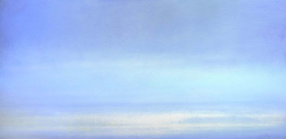 "Kevin Fitzgerald, ""Boca Morning"" - 24x48, Oil on canvas--at Principle Gallery"