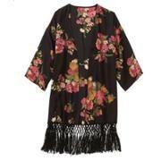 Walmart: Women's Floral Kimono With Fringe