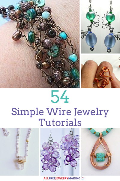 54 Simple Wire Jewelry Making Tutorials | Tutorials, Beads and ...