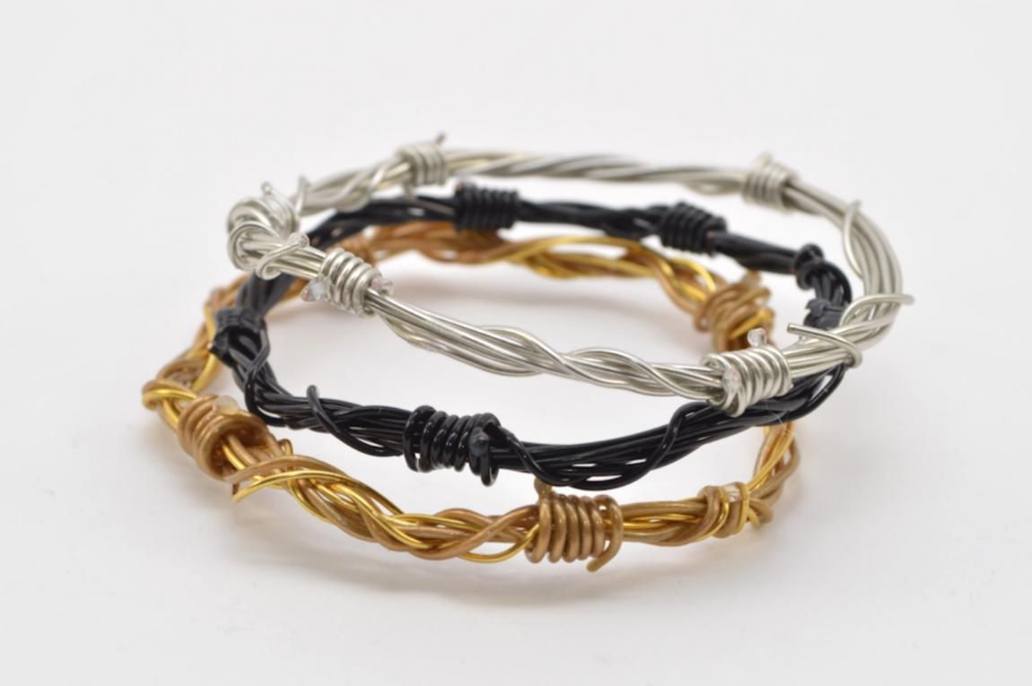 Diy Barbed Wire Bracelet Wred Bangles Jewelry