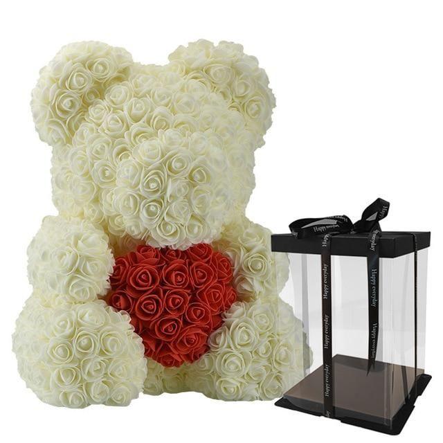 Teddy Bear Rose Romantic Valentines Gift Bear Valentines Wedding Crafts Diy