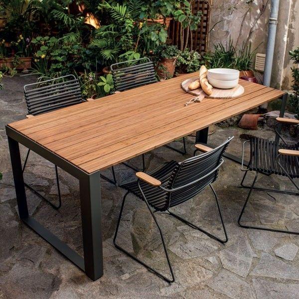 Table Sparewood Bambou Et Acier Laque Epoxy Gris Outdoor Par Houe My Deco Shop Le Blog Table Exterieur Bois Table Et Chaise Exterieur Table De Jardin Bois