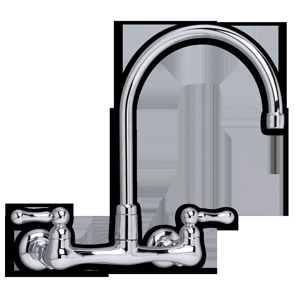 Heritage Wall-Mounted Gooseneck Faucet - Kitchen Faucet / Polished ...