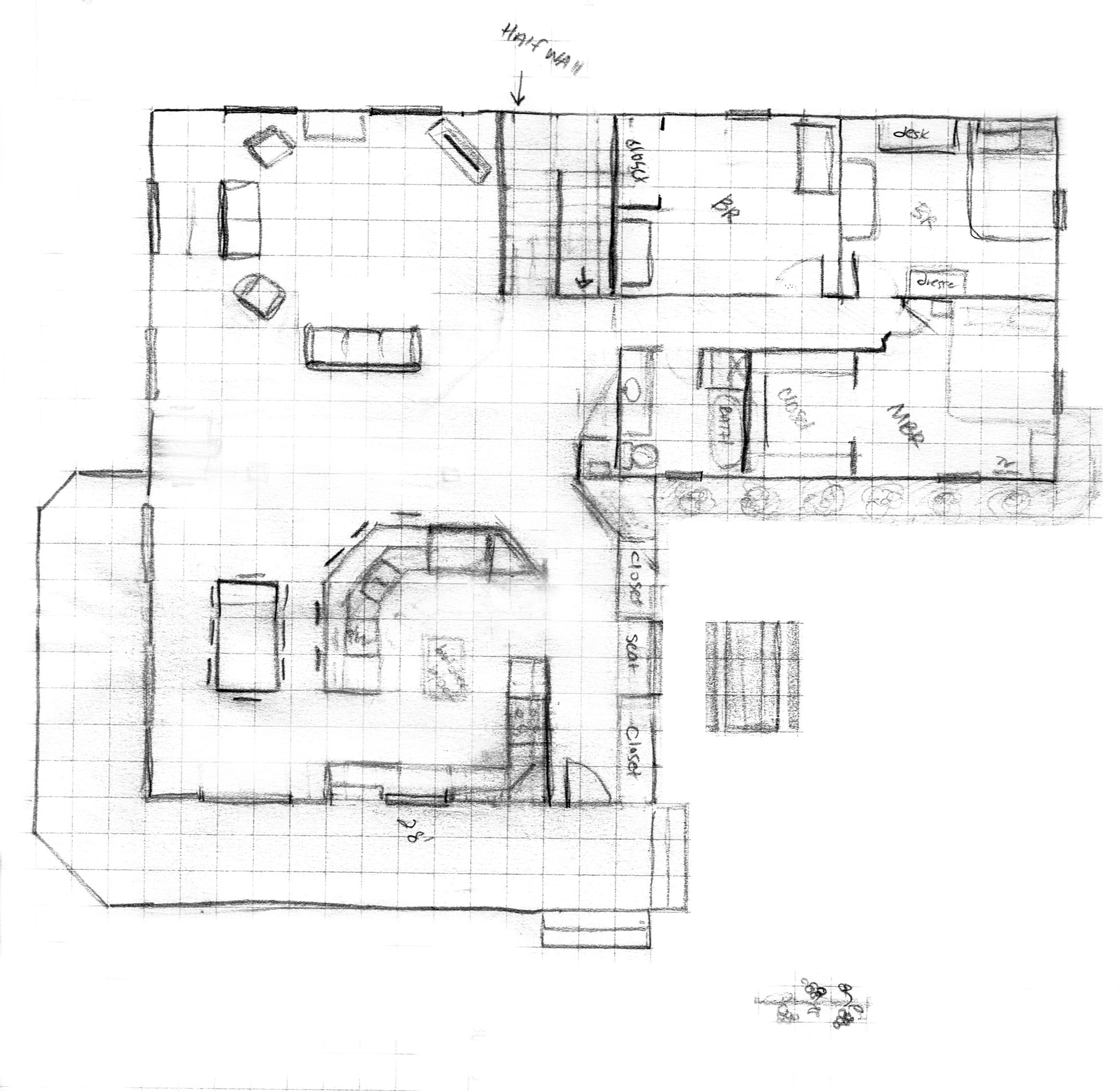The Blueprints For Our House W New Kitchen Addition
