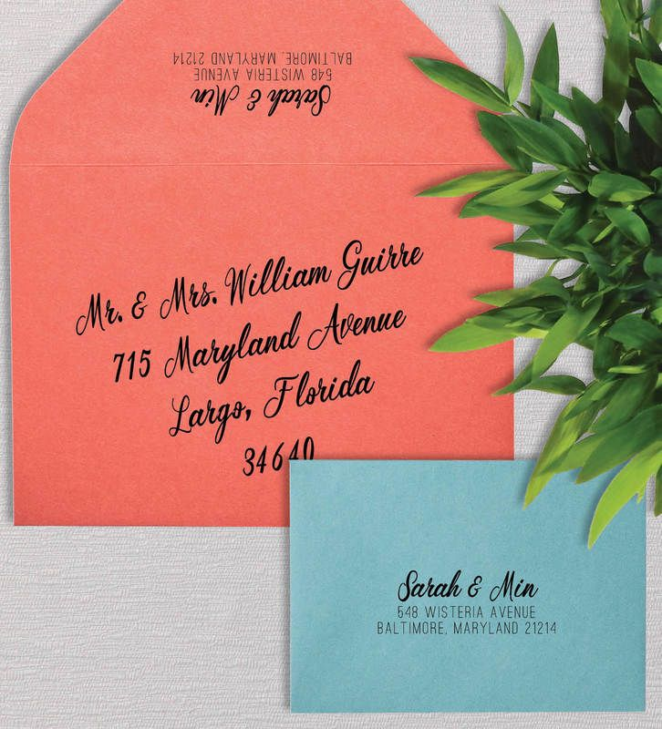Modern Wedding Invitation Addressing by EAlexDesigns Modern