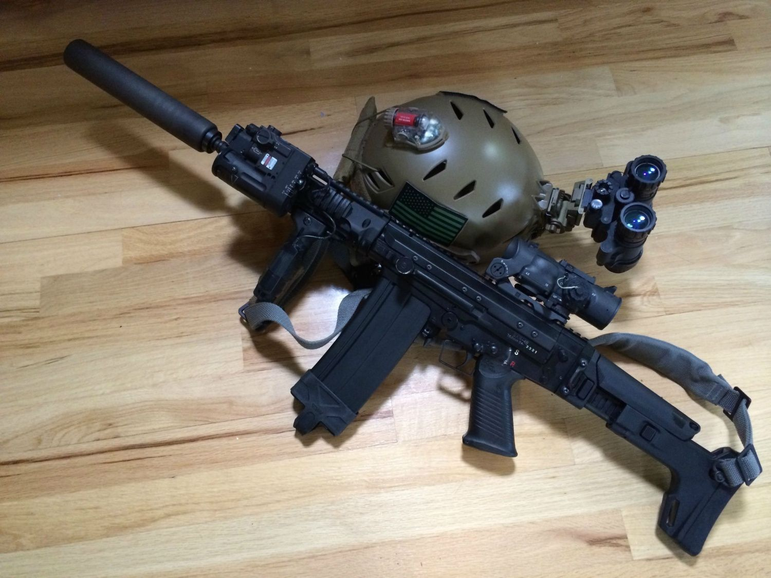 FULL AUTO SAR-48, Yankee Hill Flash hider, 7 62 phantom