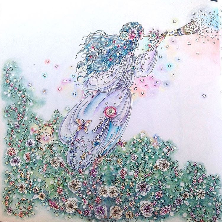 #ファンタジーのぬり絵ブック #田代知子 #おとぎ話のぬり絵シリーズ #tomokotashiro #fantasycoloringbook #adultcoloring #coloriage #adultcoloringbook #coloringforgrownups