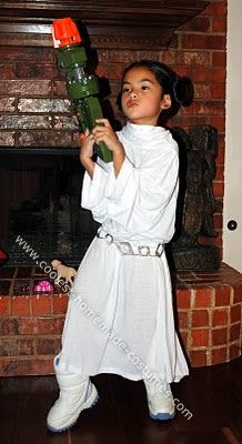 Homemade Princess Leia Costume My 6 year old daughter was recently introduced to the Star  sc 1 st  Pinterest & Coolest Princess Leia Costume | Leia costume Princess leia and Princess