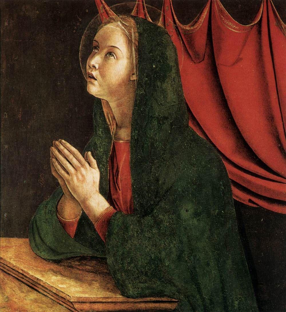 La Vergine Annunziata (1464-68) tempera su tavola - Giovanni Bellini - Chiesa di S.Giovanni e Paolo, Venezia